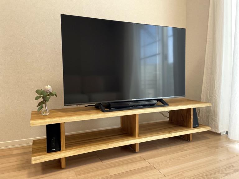 unicoのテレビボード「SOTO」の正面