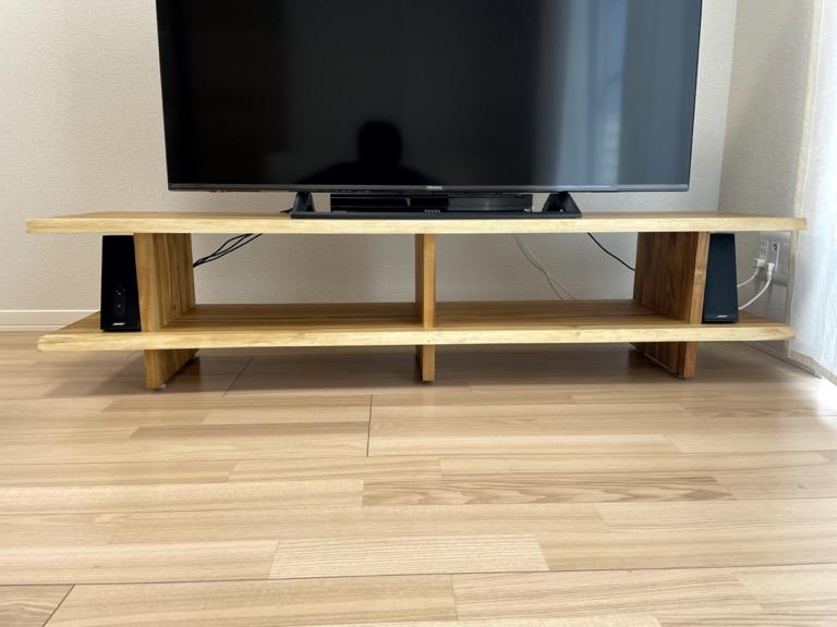 unicoのテレビボード「SOTO」の配線の見え方