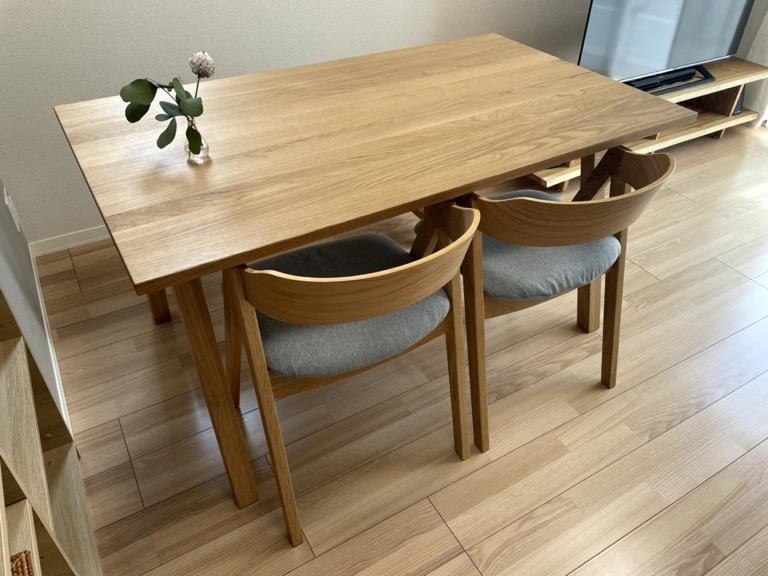 unicoのダイニングテーブル「ELEMT」の全体像